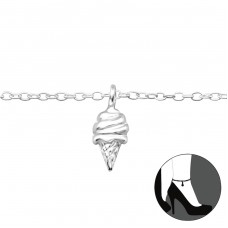 Ice Cream - 925 Sterling Silver Anklets for foot A4S27661