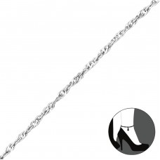 Twisted - 925 Sterling Silver Anklets for foot A4S28741