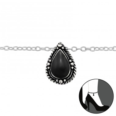 Drop - 925 Sterling Silver Anklets for foot A4S29970