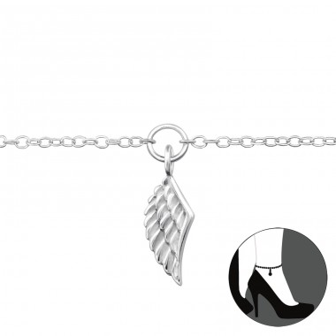 Wing - 925 Sterling Silver Anklets For Foot A4S29971