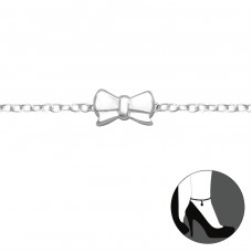 Bow - 925 Sterling Silver Anklets for foot A4S31117