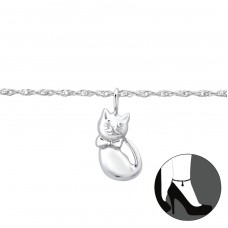 Cat - 925 Sterling Silver Anklets for foot A4S31122