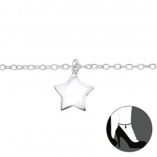 Star - 925 Sterling Silver Anklets for foot A4S31576