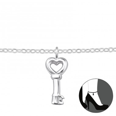 Key - 925 Sterling Silver Anklets for foot A4S31577