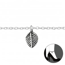 Leaf - 925 Sterling Silver Anklets for foot A4S33152