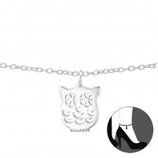 Owl - 925 Sterling Silver Anklets for foot A4S35070