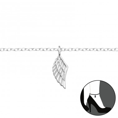 Wing - 925 Sterling Silver Anklets for foot A4S35936