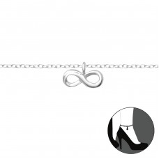 Infinity - 925 Sterling Silver Anklets for foot A4S36046