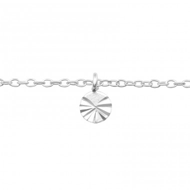 Circle - 925 Sterling Silver Anklets for foot A4S39256