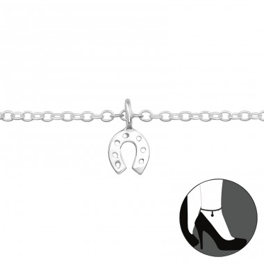 Horseshoe - 925 Sterling Silver Anklets for foot A4S39345