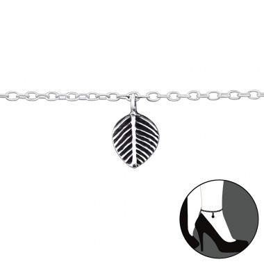 Leaves - 925 Sterling Silver Anklets for foot A4S42617