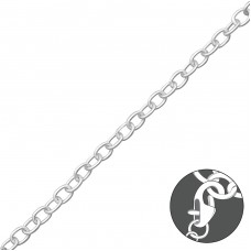 Plain - 925 Sterling Silver Bracelet for Silver Charms A4S32478