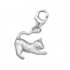 Cat - 925 Sterling Silver Charms with lobster A4S3023