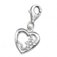 Heart - 925 Sterling Silver Charms with lobster A4S3110