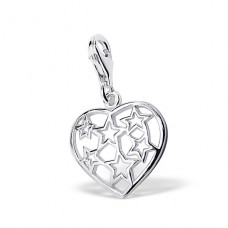 Heart - 925 Sterling Silver Charms with lobster A4S3153