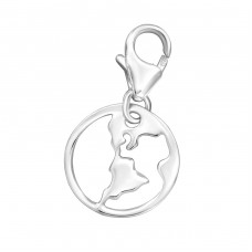 Earth - 925 Sterling Silver Charms with lobster A4S32122