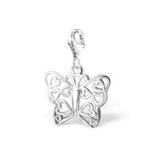 Butterfly - 925 Sterling Silver Charms with lobster A4S3252