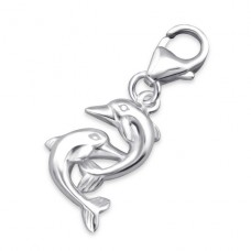 Dolphin - 925 Sterling Silver Charms with lobster A4S6