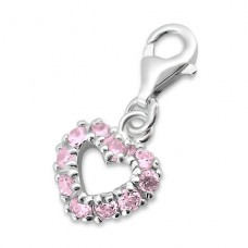 Heart - 925 Sterling Silver Charms with lobster A4S880