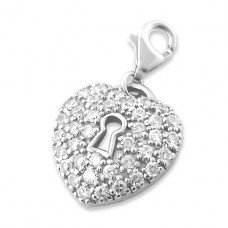 Heart - 925 Sterling Silver Charms with lobster A4S908