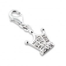 Crown - 925 Sterling Silver Charms with lobster A4S932