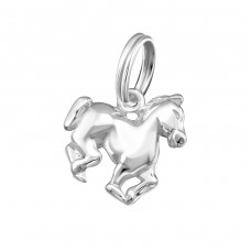 Horse - 925 Sterling Silver Charms with split ring A4S16065