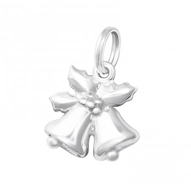 Bell - 925 Sterling Silver Charms with split ring A4S16072