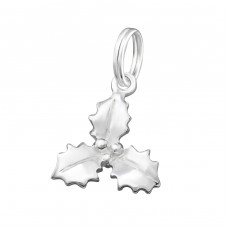 Leaf - 925 Sterling Silver Charms with split ring A4S16236