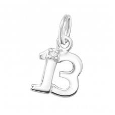 Thirteen - 925 Sterling Silver Charms with split ring A4S16237