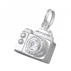 Camera - 925 Sterling Silver Charms with split ring A4S16314