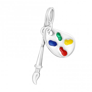 Palette - 925 Sterling Silver Charms with split ring A4S16315