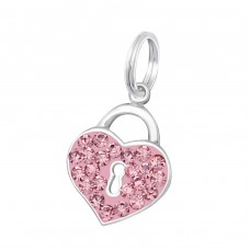 Heart - 925 Sterling Silver Charms with split ring A4S17497