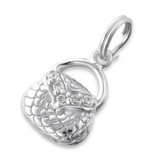 Bag - 925 Sterling Silver Charms with split ring A4S17500