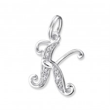 K - 925 Sterling Silver Charms with split ring A4S17505