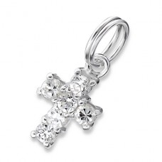 Cross - 925 Sterling Silver Charms with split ring A4S18338