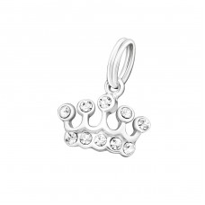 Crown - 925 Sterling Silver Charms with split ring A4S19527