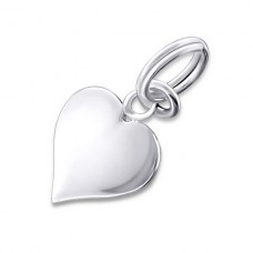 Heart - 925 Sterling Silver Charms with split ring A4S19568