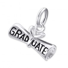 Graduate - 925 Sterling Silver Charms with split ring A4S19569
