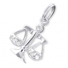 Libra Zodiac Sign - 925 Sterling Silver Charms with split ring A4S19998