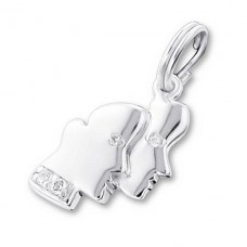 Gemini Zodiac Sign - 925 Sterling Silver Charms with split ring A4S20006
