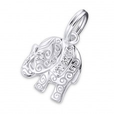 Elephant - 925 Sterling Silver Charms with split ring A4S20008