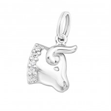 Taurus Zodiac Sign - 925 Sterling Silver Charms with split ring A4S24081