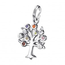Tree - 925 Sterling Silver Charms with split ring A4S27395