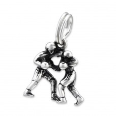 Boxer - 925 Sterling Silver Charms with split ring A4S28902