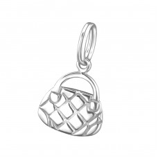 Handbag - 925 Sterling Silver Charms with split ring A4S29158