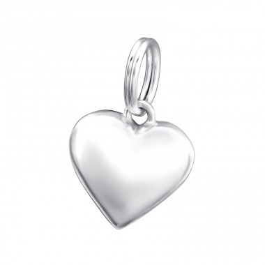 Heart - 925 Sterling Silver Charms with split ring A4S29162