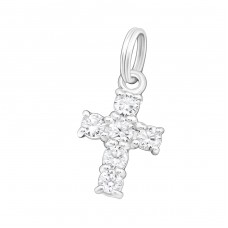Cross - 925 Sterling Silver Charms with split ring A4S29167