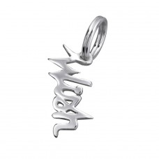 Wish - 925 Sterling Silver Charms with split ring A4S29168