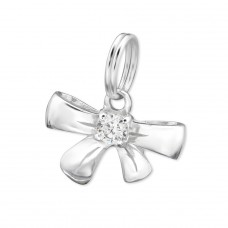 Bow - 925 Sterling Silver Charms with split ring A4S29179