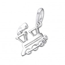 Train - 925 Sterling Silver Charms with split ring A4S29275